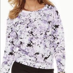 💜JUICY COUTURE💜MARBLE PRINT SCUBA SWEATSHIRT💜